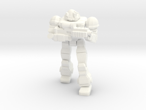 Raider (Viking MKII) With Plasm Rifle in White Processed Versatile Plastic