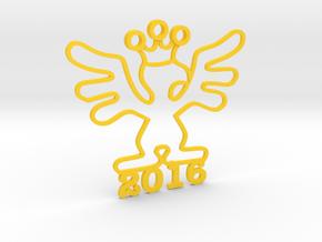 2016 Kinetic Bribe (Large) in Yellow Processed Versatile Plastic