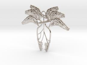 Heaven's Key  in Rhodium Plated Brass