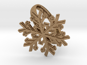 Snowflake Ring 1 d=19.5mm h35d195 in Natural Brass