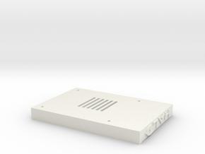 Raspberry Pi case bottom part Halo Style in White Natural Versatile Plastic