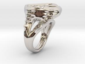 RING MEN 21mm in Rhodium Plated Brass