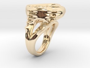 RING WOMEN 17mm in 14K Gold