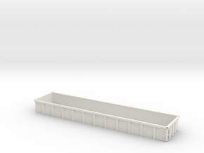 O Scale Coalveyor Side Extensions in White Natural Versatile Plastic