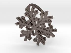 Snowflake Ring 1 d=19.5mm h21d195 in Polished Bronzed Silver Steel