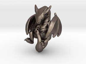 Infant Dragon in Polished Bronzed Silver Steel