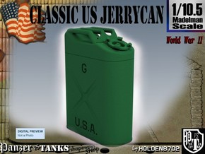 1/10.5 US Army Jerrycan in Green Processed Versatile Plastic
