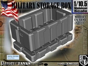 1/10.5 Military Storage Box in White Processed Versatile Plastic