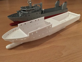 Rmah (A61), Hull (1:200) in White Strong & Flexible