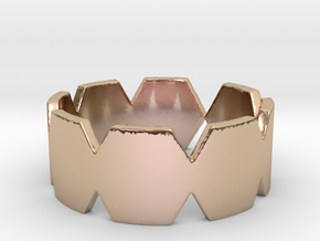 Hexa Ring in 14k Rose Gold Plated Brass