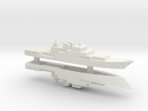 Haijing/CCG-1305 Patrol Ship x2, 1/1800 in White Natural Versatile Plastic