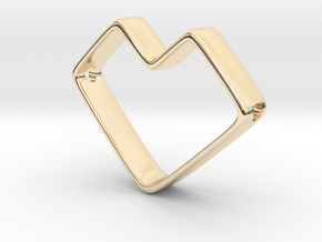 Future Love Pendant in 14k Gold Plated Brass