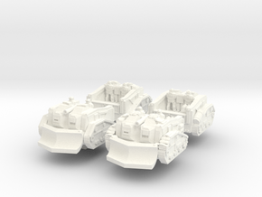 Mustang Scout Set in White Processed Versatile Plastic