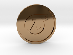 Half-Life 3 Lucky Coin in Polished Brass