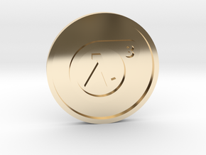 Half-Life 3 Lucky Coin in 14k Gold Plated Brass