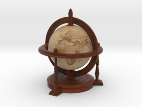 Antique Globe in Full Color Sandstone