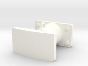 Buffer in White Processed Versatile Plastic