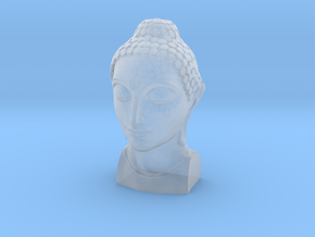 Bust of Buddha in Smooth Fine Detail Plastic