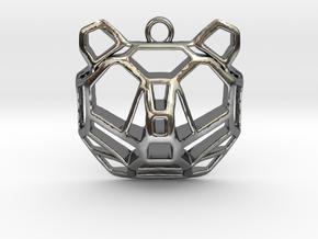 BEAR pendant in Fine Detail Polished Silver
