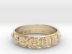 SKULLZ bangle in 14K Yellow Gold