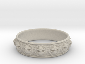 SKULLZ bangle in Natural Sandstone