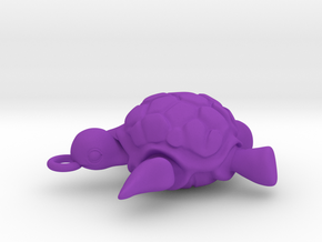 Sea turtle pendant in Purple Processed Versatile Plastic
