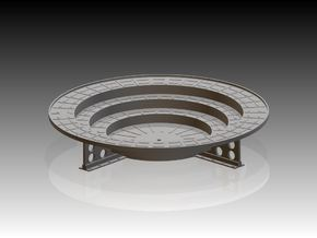Oerlikon Band Stand 4 supports 1/24 in Frosted Ultra Detail