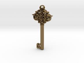 CosmicKey pendant  in Polished Bronze