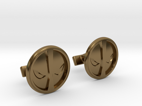 Deadpool Cufflinks in Polished Bronze