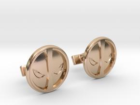 Deadpool Cufflinks in 14k Rose Gold Plated Brass
