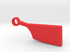 Oar Keychain in Red Processed Versatile Plastic