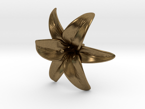 Lily Blossom (large) in Natural Bronze