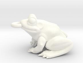 Frog Pendant Alone in White Processed Versatile Plastic