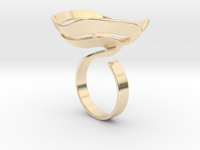 Swirl ring - size 7 in 14K Yellow Gold