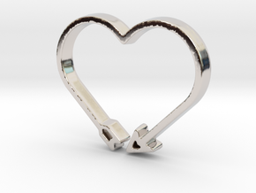 Love Arrow - Amour Collection in Rhodium Plated Brass