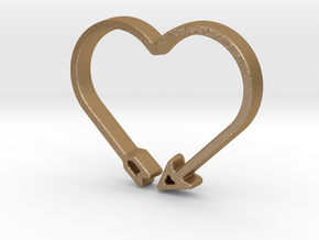 Love Arrow - Amour Collection in Matte Gold Steel