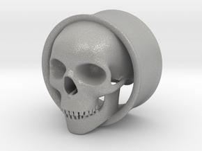 Skull 1 Inch Plug in Aluminum