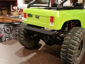 SCX10 Rear Bumper for Dovetail Bodies in Black Natural Versatile Plastic