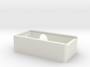 Ebox 1x18650 in White Natural Versatile Plastic