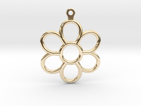Share Your Smile With Me Sunflower Earrings (Small in 14k Gold Plated Brass