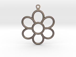 Share Your Smile With Me Sunflower Earrings (Big)  in Polished Bronzed Silver Steel