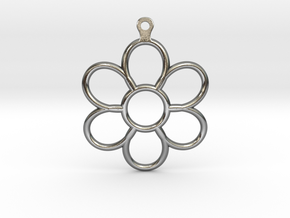 Share Your Smile With Me Sunflower Earrings (Big)  in Polished Silver