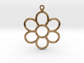 Share Your Smile With Me Sunflower Earrings (Big)  in Polished Brass