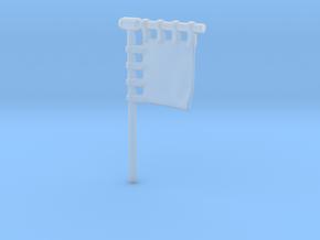 28mm/32mm Customisable Sashimono Flag Short in Smooth Fine Detail Plastic