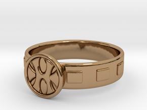King Grayskull Ring in Polished Brass