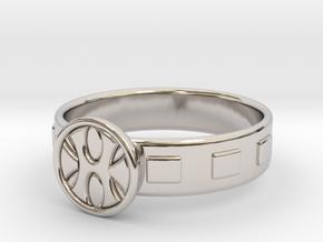 King Grayskull Ring in Rhodium Plated Brass