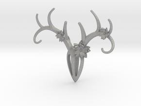 Feminine Antlers Pendant in Aluminum