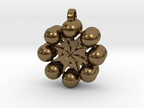 Flower Of Life In 3D Multiverse  in Natural Bronze