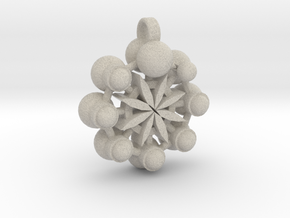 Flower Of Life In Circular Multiverse Love Engine in Natural Sandstone
