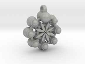 Flower Of Life In Circular Multiverse Love Engine in Aluminum
